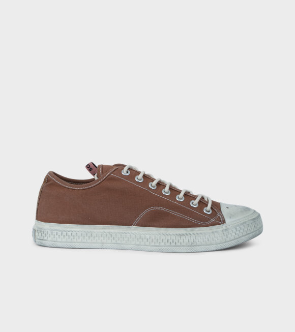 Acne Studios - Canvas Sneakers Brown/Off White