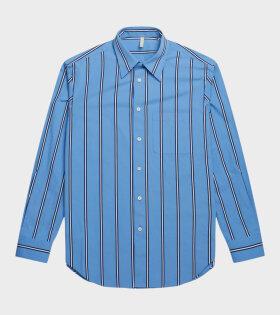 Adrian Shirt Striped Blue/White