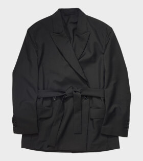 Acne Studios - Double-breasted Belted Jacket Black
