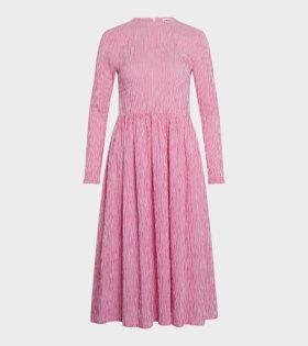 Crinckle Pop Docca Dress Pink/White