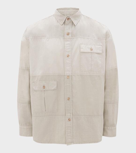 JW Anderson - Relaxed Multi Pocket Shirt Sandfarvet