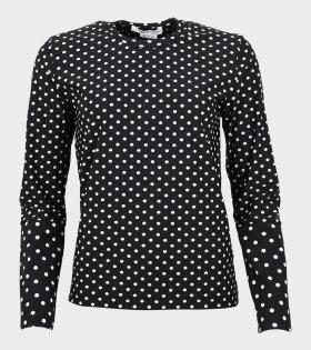 Ladies Dots Blouse Black