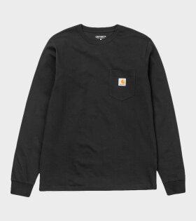 Carhartt WIP - L/S Pocket T-shirt Black