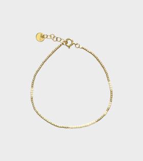 ASYM Ecru White Bracelet Gold