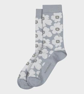Hieta Unikko Socks Grey