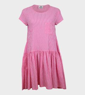 Crinckle Pop Drastica Dress Pink/White