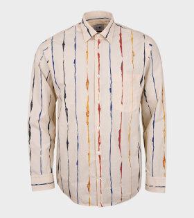 Errico Print Shirt Beige Multi