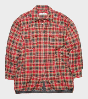 Acne Studios - Quilted Overshirt Dark Grey/Red