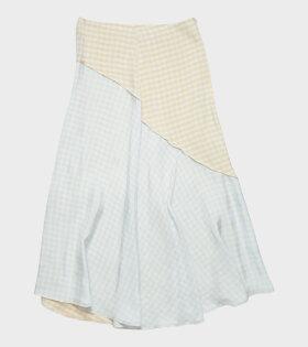 Acne Studios - Midi Skirt Checkered Beige/Blue
