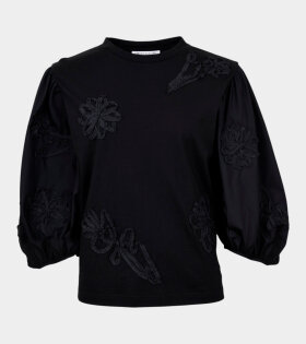 Clay Flower T-shirt Black