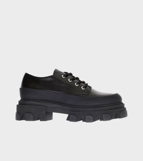 Chunky Winter Oxford Shoes Black