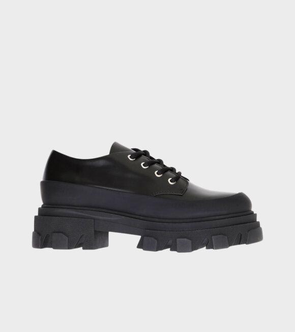 Ganni - Chunky Winter Oxford Shoes Black