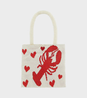 Lobster Pouch White/Red