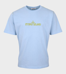 Stone Island - Embroidered Logo T-shirt Blue