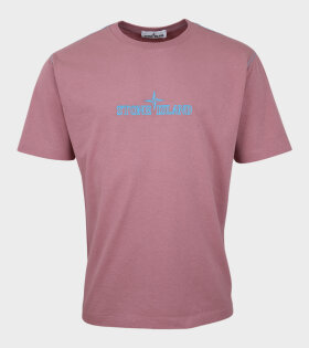 Stone Island - Embroidered Logo T-shirt Pink