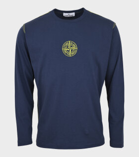 Stone Island - Embroidered Compas L/S T-shirt Navy