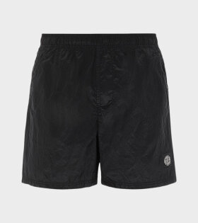 Stone Island - Logo Nylon Swim Shorts Black