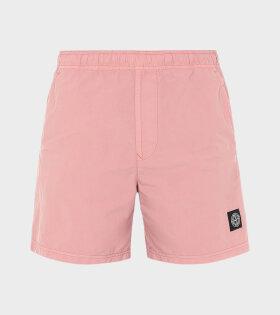 Stone Island - Logo Swim Shorts Pink