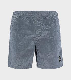 Stone Island - Logo Nylon Swim Shorts Blue