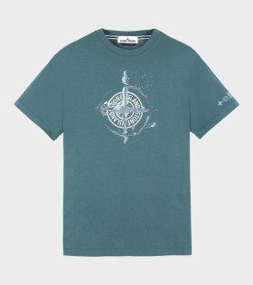 Stone Island - Splash Logo T-shirt Green