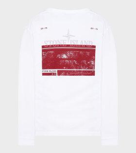 Stone Island - Logo Print L/S T-shirt White
