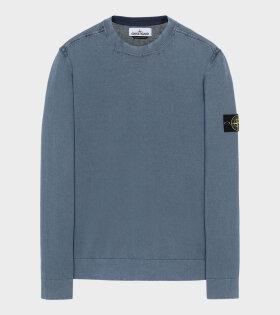 Stone Island - Patch Crewneck Knit Blue