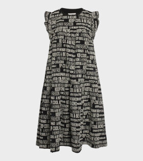 Graphic Damilla Dress Black