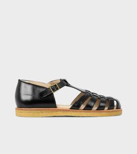 Closed Toe Sandals Black