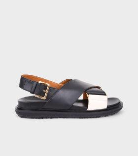 Fussbett Sandal Black/White
