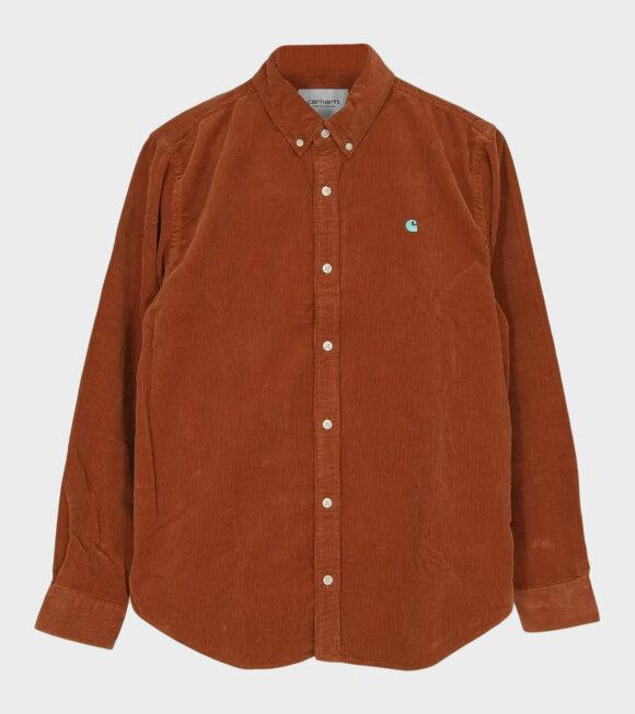 Carhartt WIP - L/S Madison Cord Shirt Brown