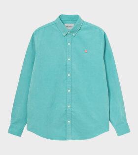 L/S Madison Cord Shirt Green