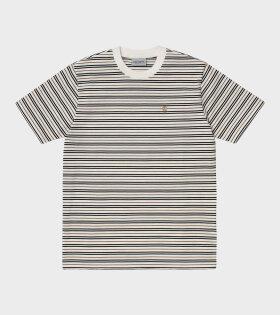 Akron Stripe T-shirt White