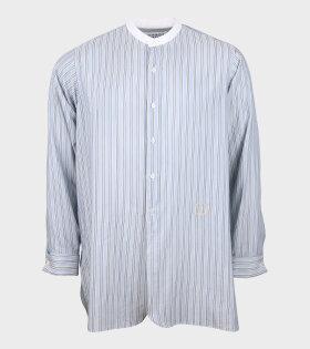 Maison Margiela - Poplin Collarless Shirt Blue