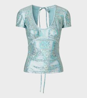 Saks Potts - Alexandra Blouse Baby Blue Shimmer
