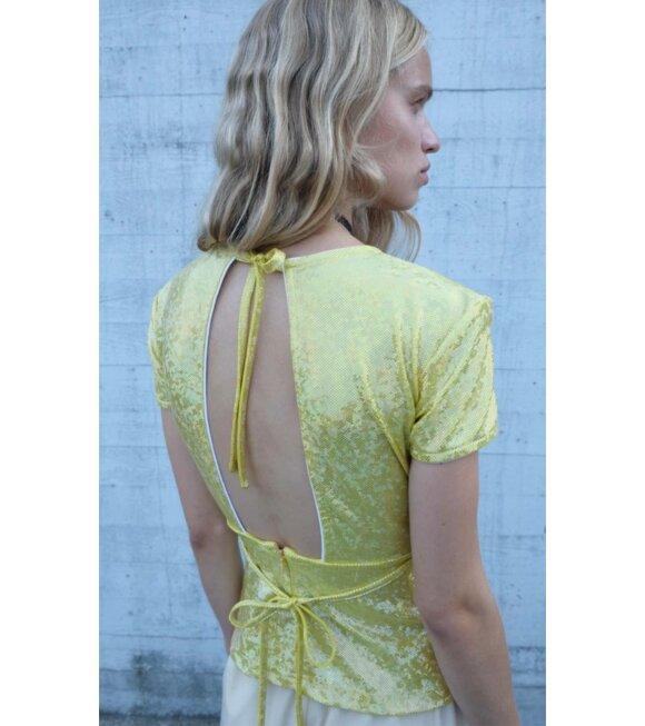 Saks Potts - Alexandra Blouse Citrus Shimmer