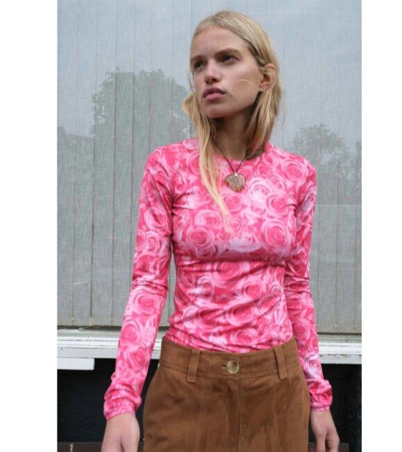 Saks Potts - Saya Blouse Sexy Rose Print