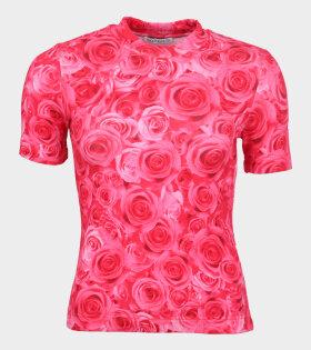 Saks Potts Slim T-shirt Sexy Rose Print
