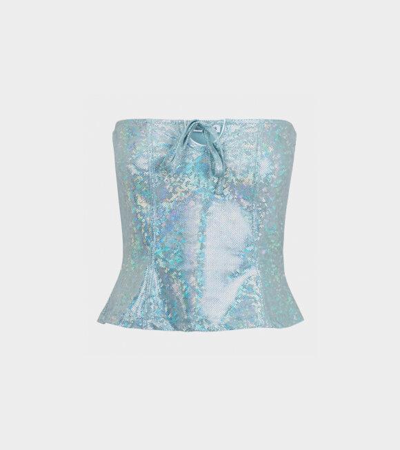 Saks Potts - Bente Top Baby Blue Shimmer