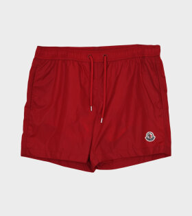Moncler - Boxer Mare Shorts Red