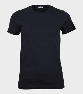 Moncler Maglia Girocollo Logo t-shirt Navy