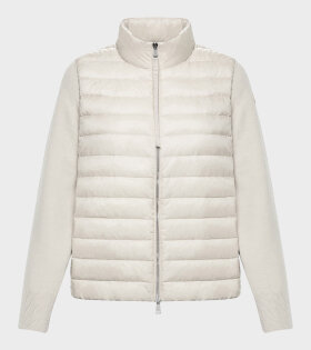 Moncler - Cardigan Tricot White