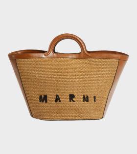 Tropicalia Summer Top Handle Bag Brown