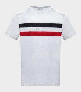 Maglia Tee Striped Logo White
