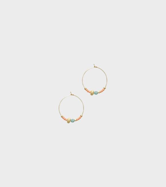 Anni Lu - Wave Chaser Hoops Peaches n'Cream