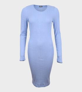 101 Rib John Dress Sky Blue