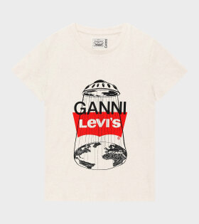 Ganni - Ufo Graphic T-shirt Nature