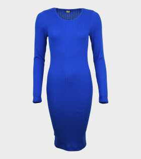 101 Rib John Dress Cobalt Blue