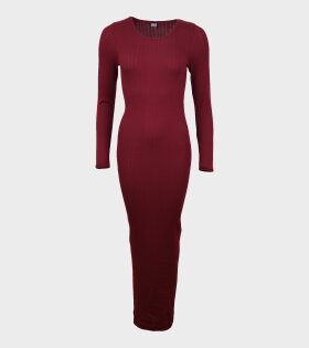 101 Rib Long John Dress Bordeaux