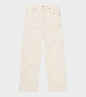 Ganni - Mid-Rise Straight Jeans Nature