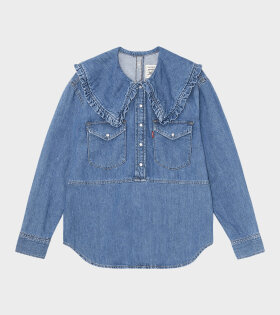 Ganni - Snpack Denim Blouse Medium Indigo